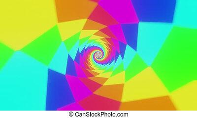 psychédélique, arc-en-ciel, hypnotique, tunnel, spirale, fond