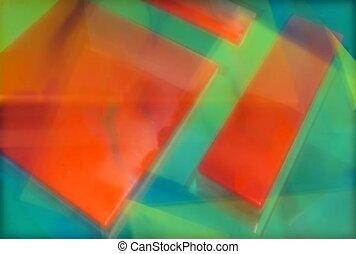 psychédélique, multi-coloré, abstact
