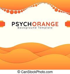 Psych Orange design background