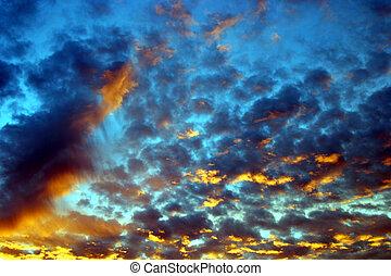 psychadelic, sky, #1