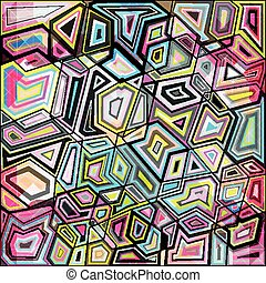 psychedelic abstract colored graffiti background