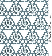 psychedelic abstract stars monochrome seamless pattern