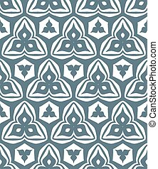 psychedelic abstract trefoil monochrome seamless pattern
