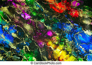 Psychedelic Alcohol Ink Abstract