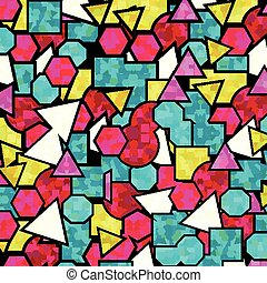 psychedelic bright geometric abstract pattern