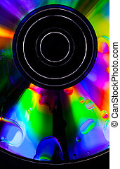 Psychedelic CD - Satured colors for this CD with oil drops ...