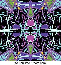psychedelic colored graffiti pattern vector illustration