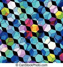 psychedelic colored polygons abstract geometric background