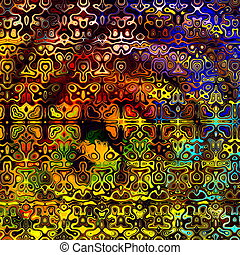 Psychedelic Colorful Background.