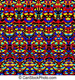 Psychedelic colorful pattern. - Psychedelic colorful...