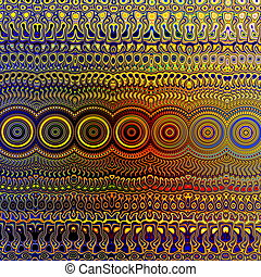 Psychedelic Colourful Pattern. Unique Abstract Artwork....