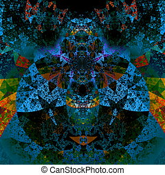 Psychedelic darth vader art.