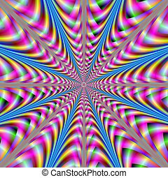 Psychedelic Explosion - Computer generated fractal image ...