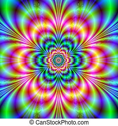 Psychedelic Flower - Computer generated image with a...