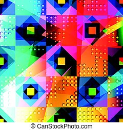 Psychedelic geometric abstract color pattern