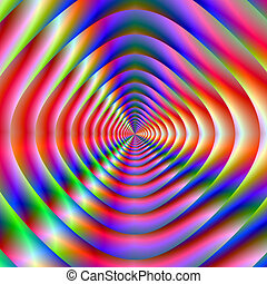 Psychedelic Loudspeaker Cone - Digital abstract image with a...