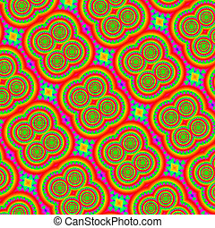 Psychedelic mandala hippy style abstract - Background, tile...