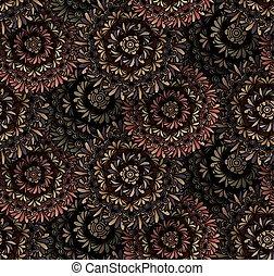Psychedelic mandala seamless pattern