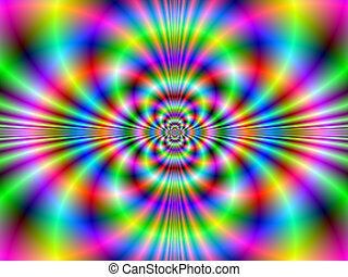Psychedelic Neon - Digital abstract fractal image with a ...