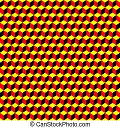 psychedelic pattern black-red-yellow