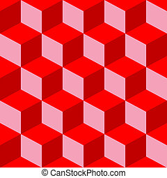 psychedelic pattern mixed red, vector art illustration
