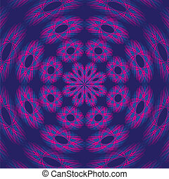 Psychedelic Purple Background - Reminding of snow crystals