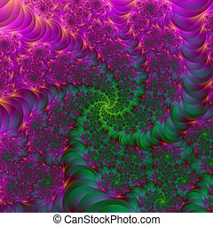 Psychedelic Roots - Digital abstract fractal image with a...