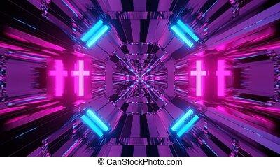 Psychedelic Sci-fi Moving Spaceship 4k uhd 3d rendering vj ...