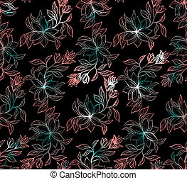 Psychedelic seamless floral pattern
