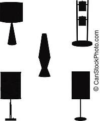 Psychedelic seventies lamps templat
