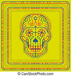 Psychedelic Skull - Vector illustration of a Day of the dead...