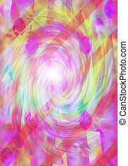 Psychedelic Spiral - A colorful psychedelic spiral ...