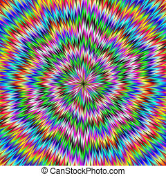 Psychedelic Swirl - Digital abstract image with a ...