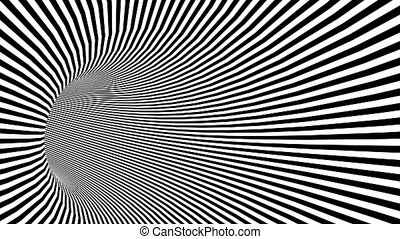 Psychedelic Twisted circle Radial border Spiral pattern ...