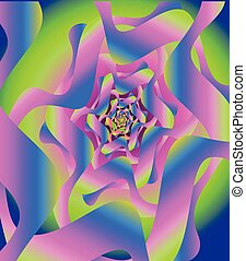 psychedelic vortex abstract art, background design...