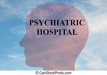 Psychiatric Hospital concept - Render illustration of...