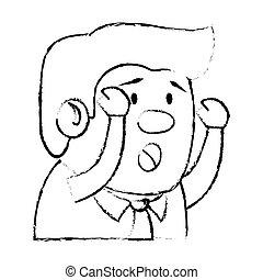 Psychiatric patient avatar character