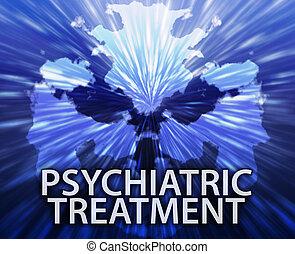 Psychiatric treatment inkblot background - Psychiatric...