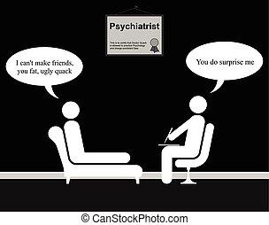 Psychiatrist Friends - Monochrome on the Psychiatrist couch...