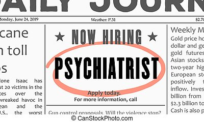 Psychiatrist job offer