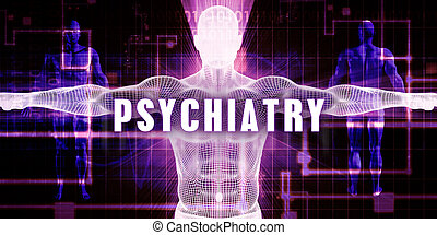Psychiatry as a Digital Technology Medical Concept Art