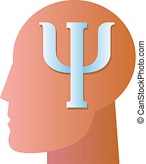 Psychiatry Symbol - A symbol commonly used for psychiatric...