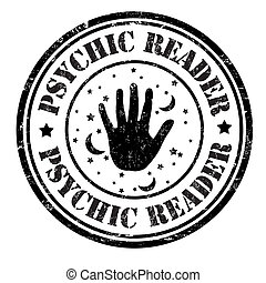 Psychic reader stamp - Psychic reader grunge rubber stamp on...
