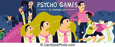 Psycho Games Illustration - Psycho games poster with success...