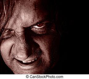 Psycho lurking in the dark.