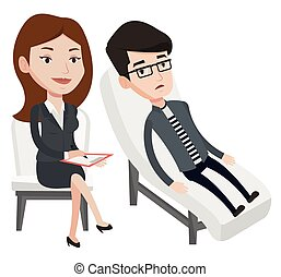 psycholog, sesja, posiadanie, patient.