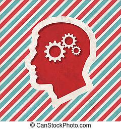 Psychological Concept on Striped Background.