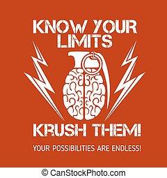Psychological logo - Brain Grenade - Brain distortion from...