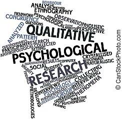 psychologiczny, jakościowy, praca badawcza