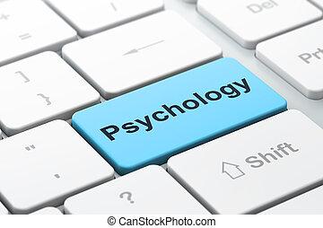 psychologie, informatique, santé, fond, clavier, concept: